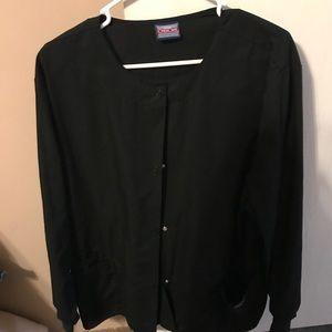 Size L Cherokee/Urbane Black Scrub Jacket & Pants